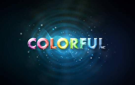 Colorful Glow Text Effects