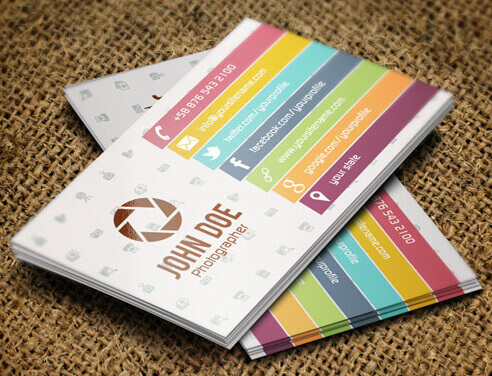 Colorful Photographer Business Card by Carddesign
