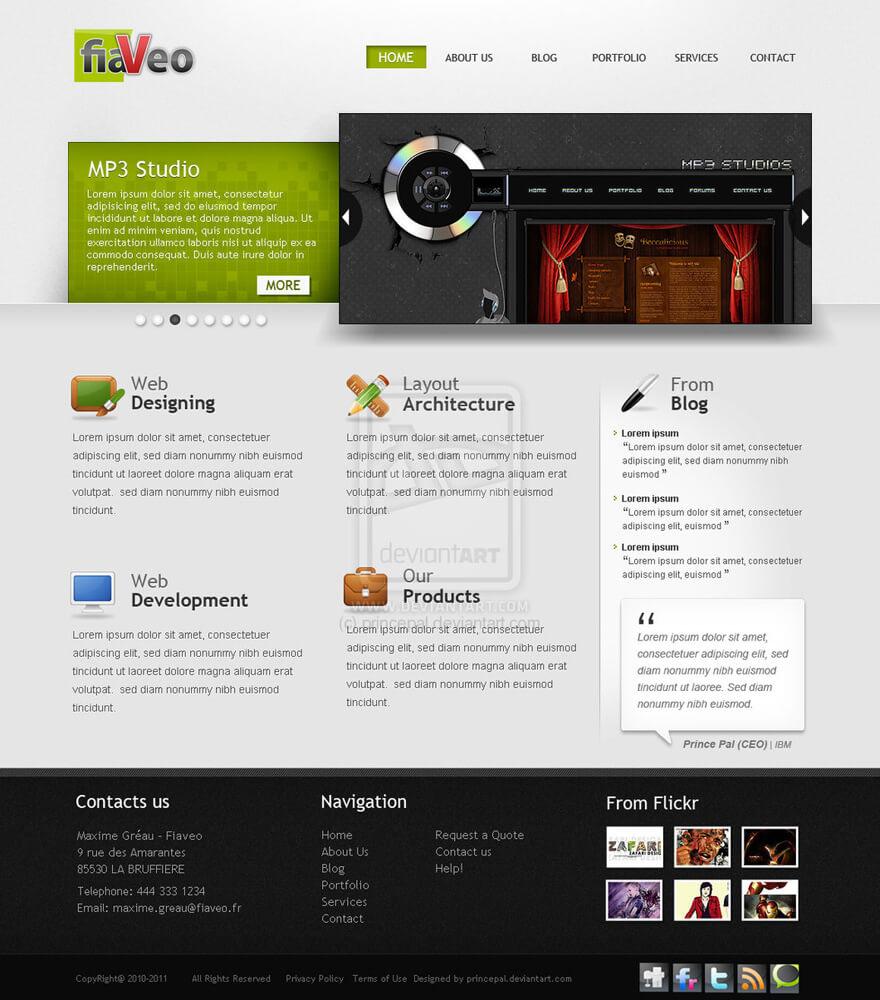 Company Portfolio Web 2.0 by princepal