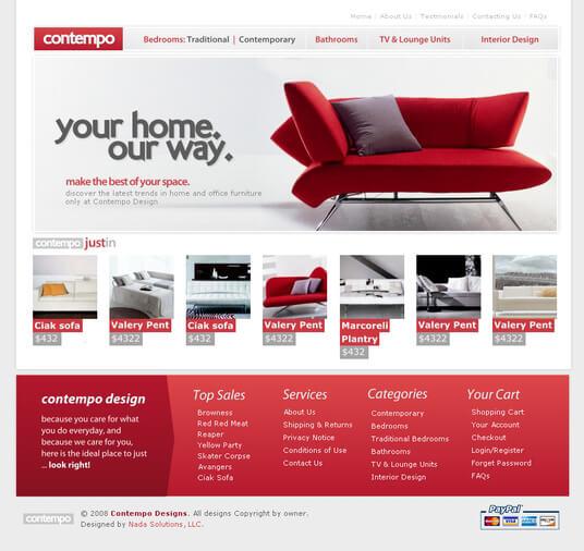 Contempo furniture website by nadasol