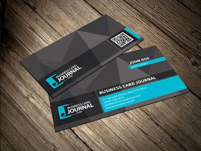 Cool Unique Business Card Template with QR Code by mengloong