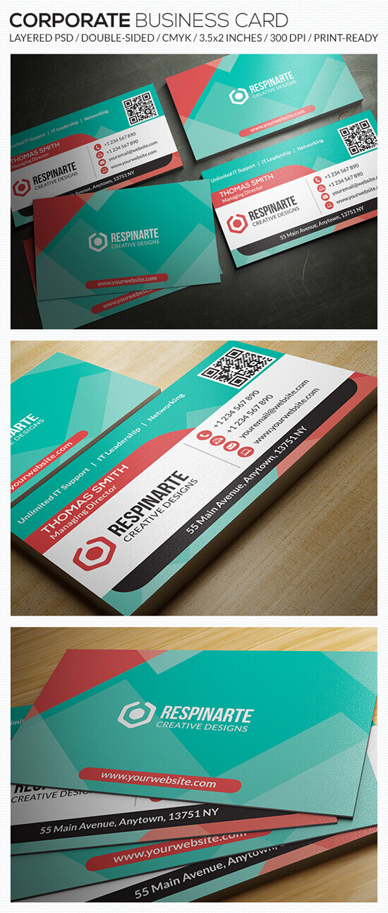 Corporate Business Card – RA57 by respinarte