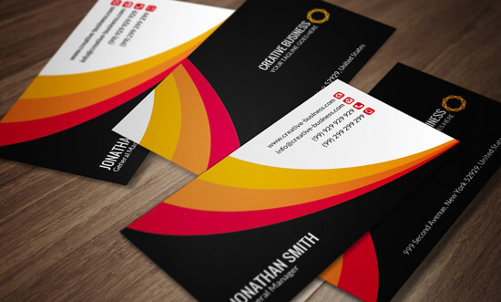 Corporate Business Card Template SE0034 by annozio