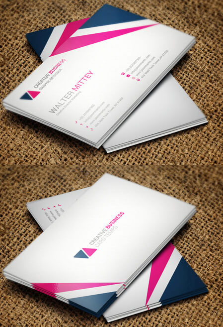 Corporate Business card Free Psd Template by FreeBusinessCards