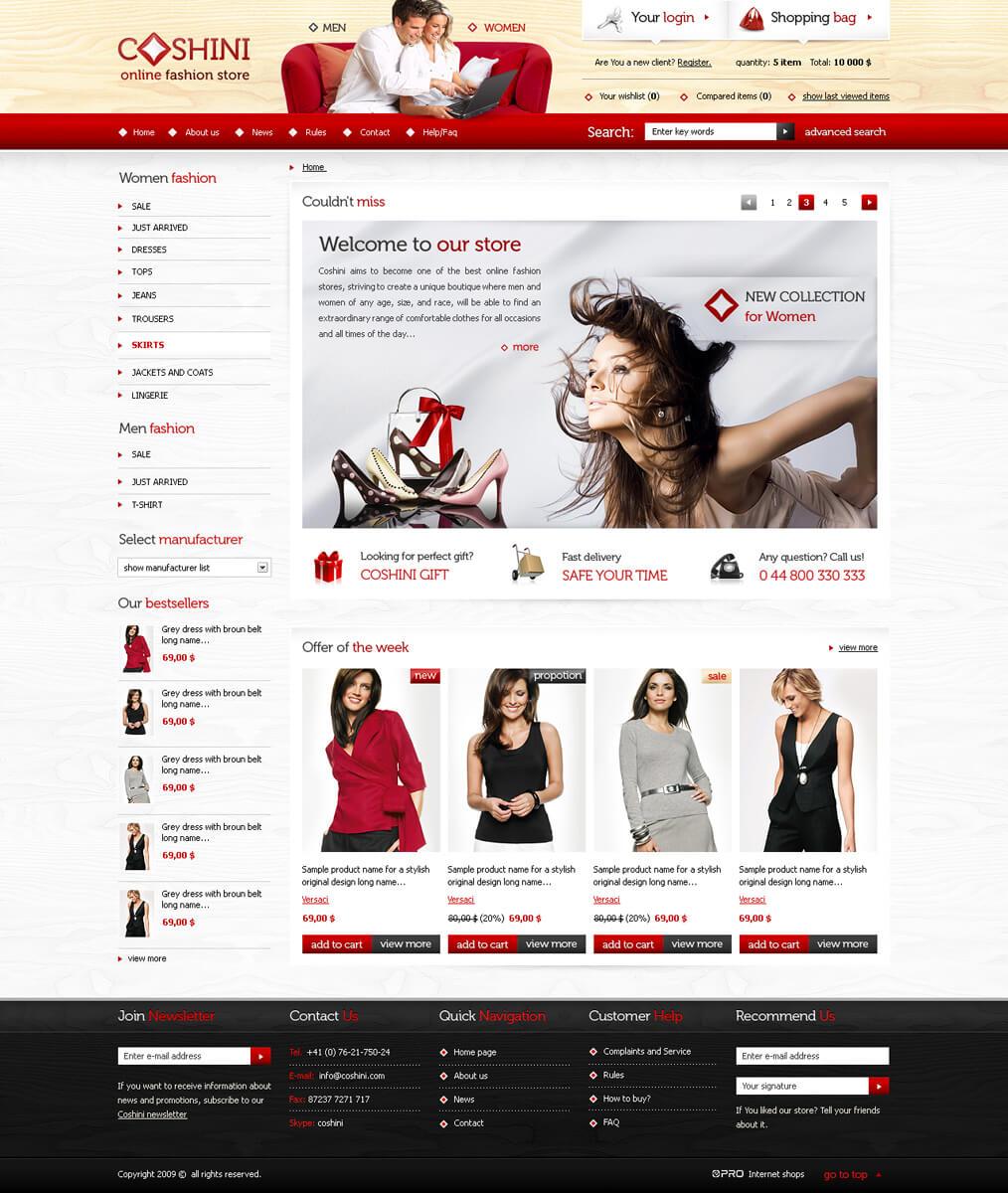 online fashion store Coshini by pcholewa