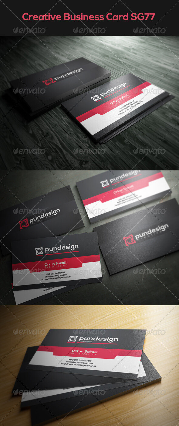 Creative Business Card SG77 by poseidon0731