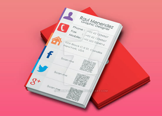 Creative Business Card by Junaid by OptimasDesign