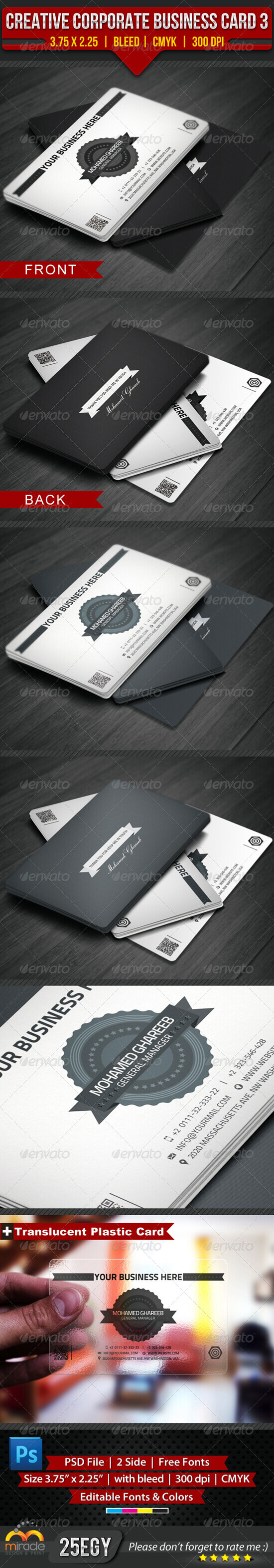 Creative Corporate Business Card 3 by EgYpToS