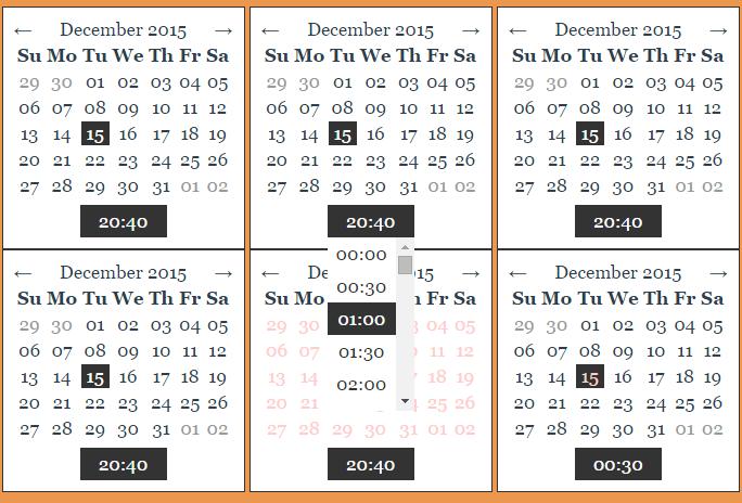 Customizable date picker