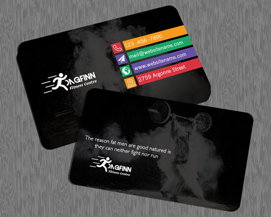 Dagfinn Fitness Centre – Business Card by creativenick9