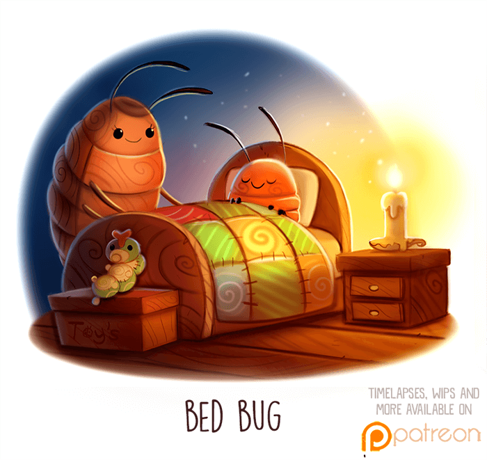 Daily Paint 1512. Bed Bug by Cryptid-Creations