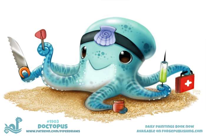 Daily Paint 1903# Doctopus by Cryptid-Creations