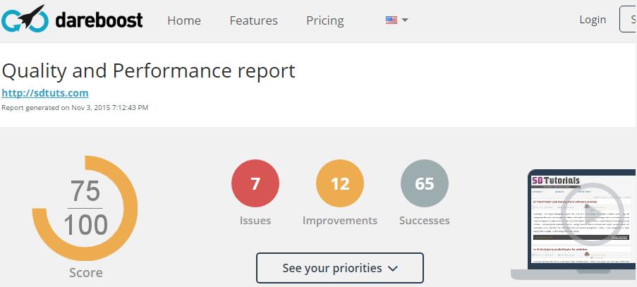 DareBoost - Website Performance