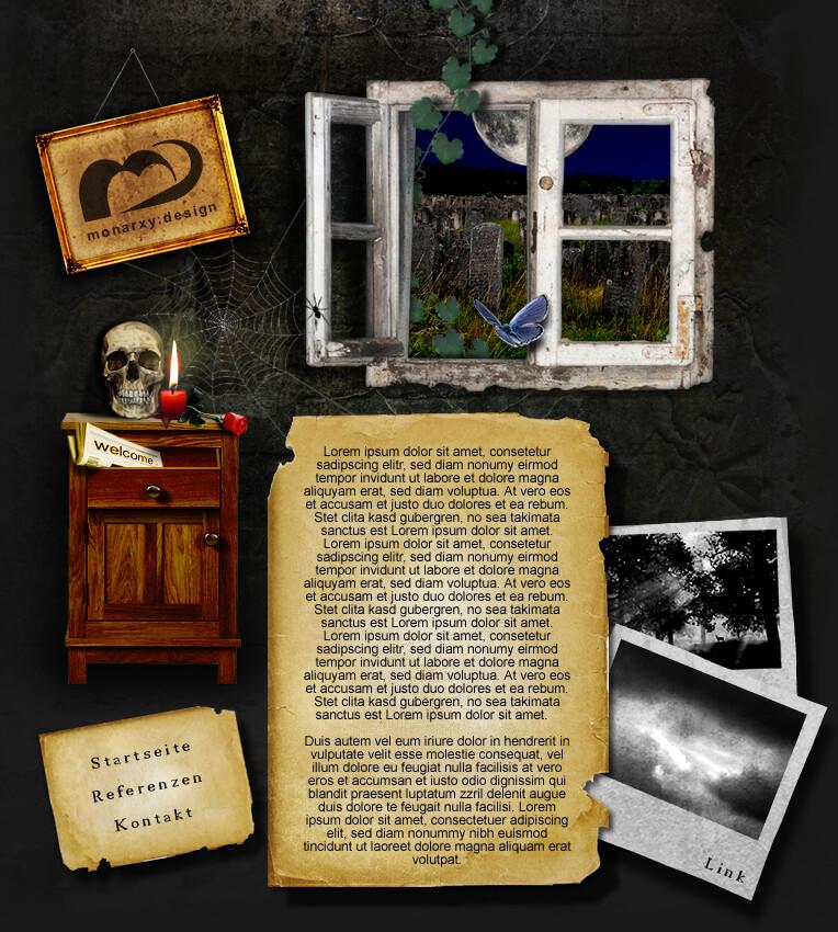 Dark Portfolio by ~monarxy