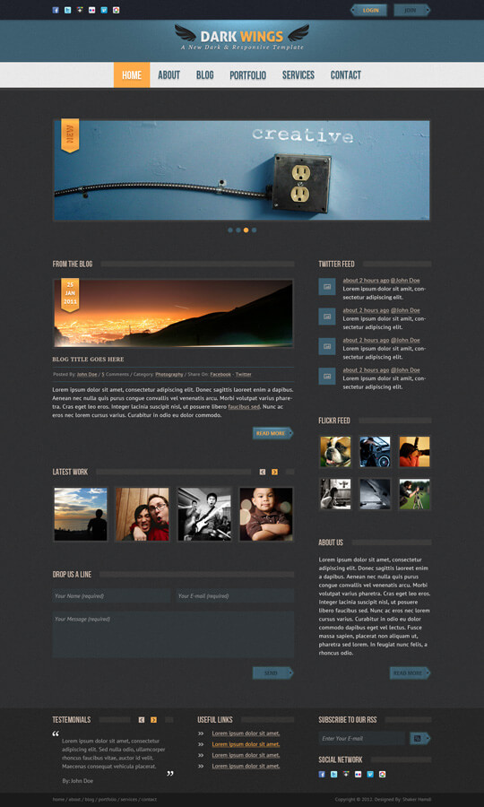 Dark Wings - PSD Template by sheko-elanteko