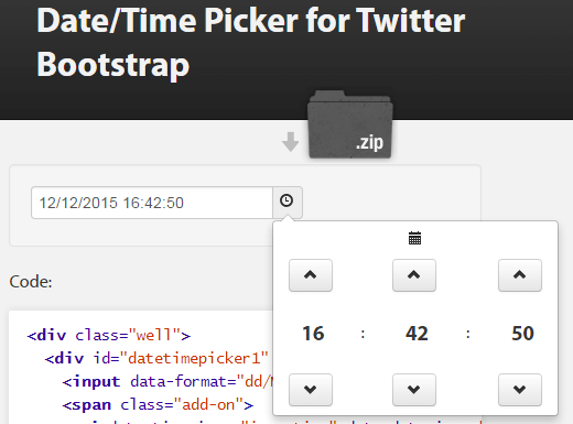 19 jQuery + Bootstrap time picker plugins