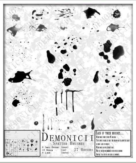 Demonicii Spatter Brushes by Demonicii