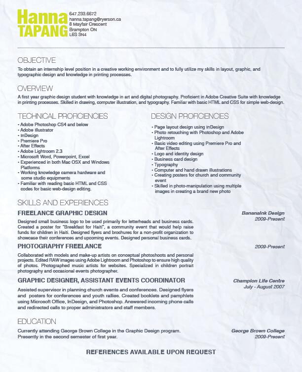 Design Resume by ~banana-ink