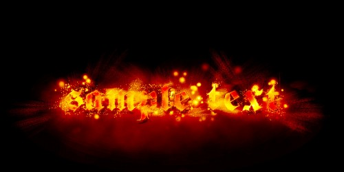 Design a Hot and Sparkling, Firery Text Effect in Photoshop