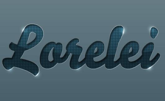 Designed Stylish Embossed Text with Metallic Glow