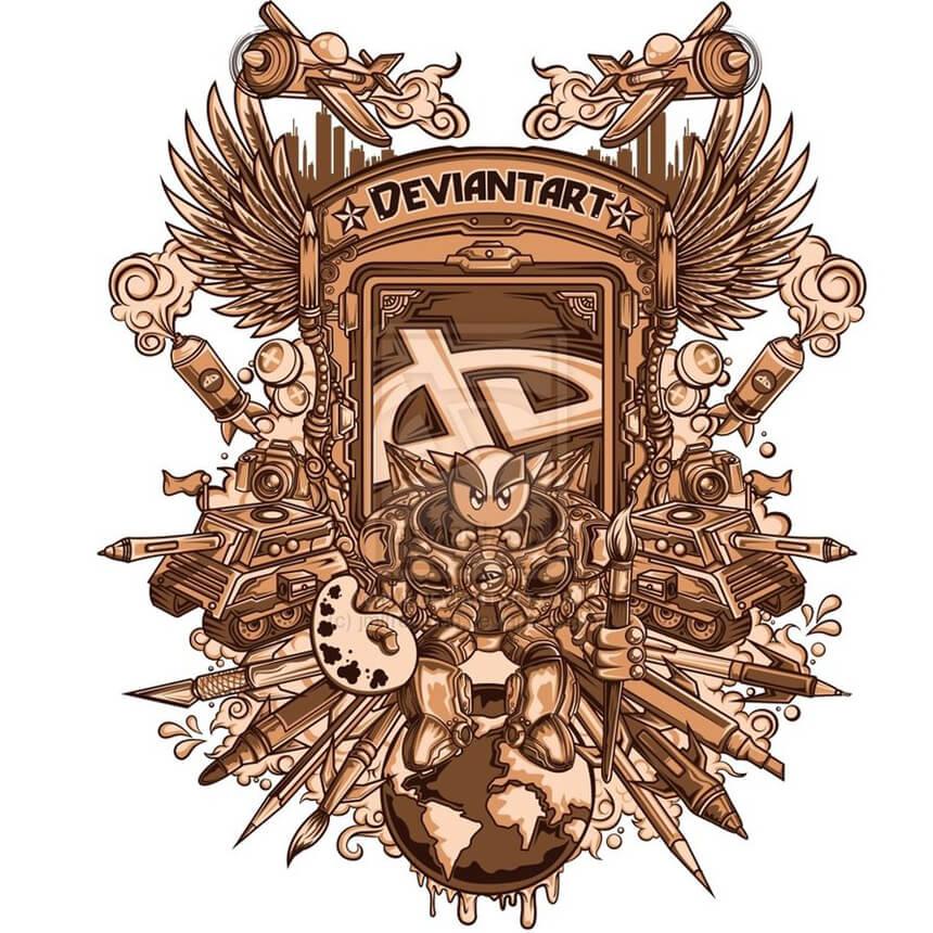 Deviantart contest Design by jmlfreeman