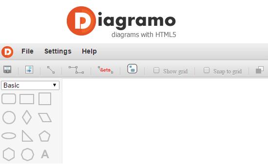 Microsoft visio alternative flow diagram maker tools diagramo diagram with html5 ccuart Gallery