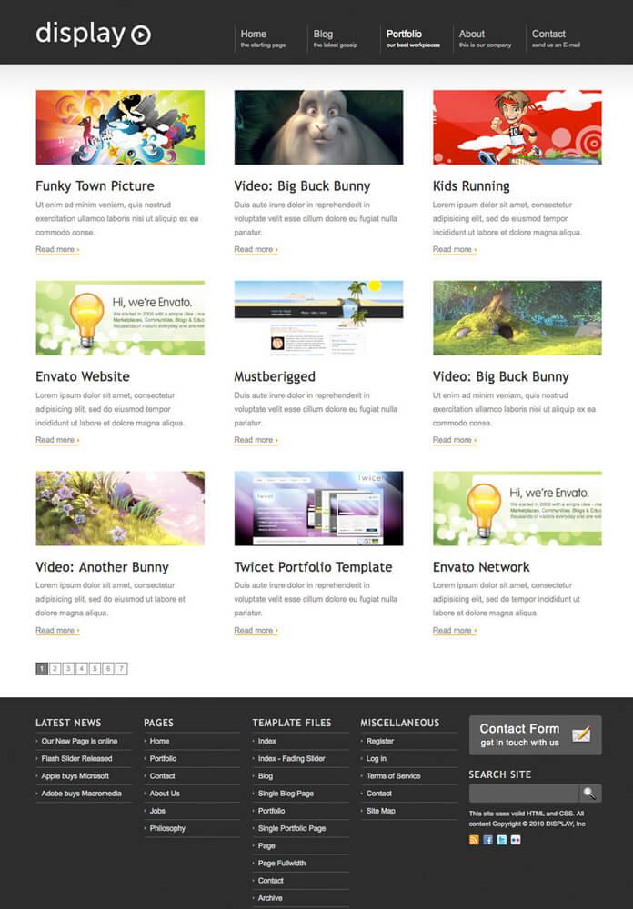 Display WordPress Theme by allken