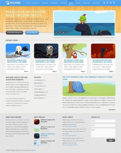 Dolphin WordPress Theme by The-Returnx