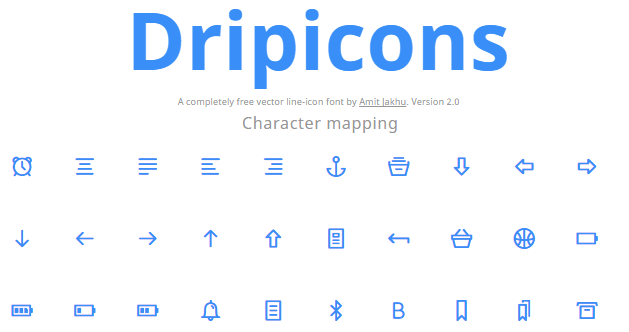 Dripicons - A completely free vector line-icon font by Amit Jakhu