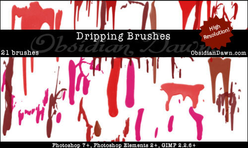 Dripping Brushes by redheadstock