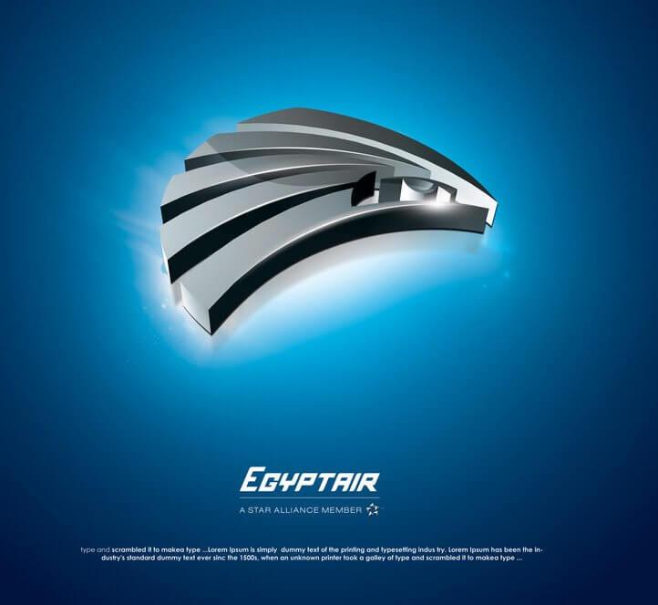 Egypt air logo by Ahmadrefaat