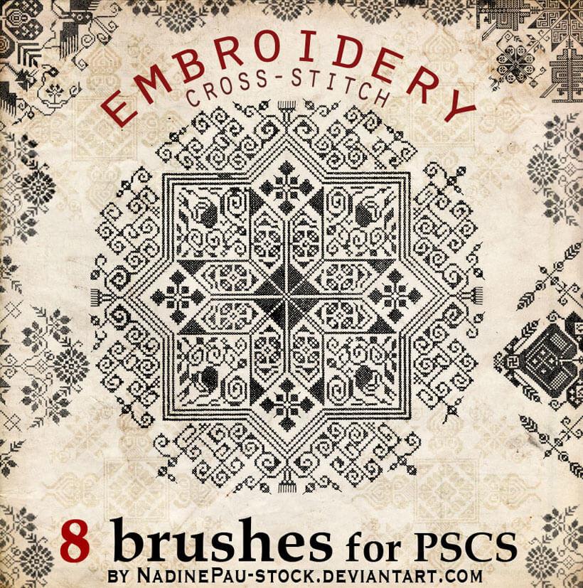 Embroidery a cross-stitch by NadinePau-stock