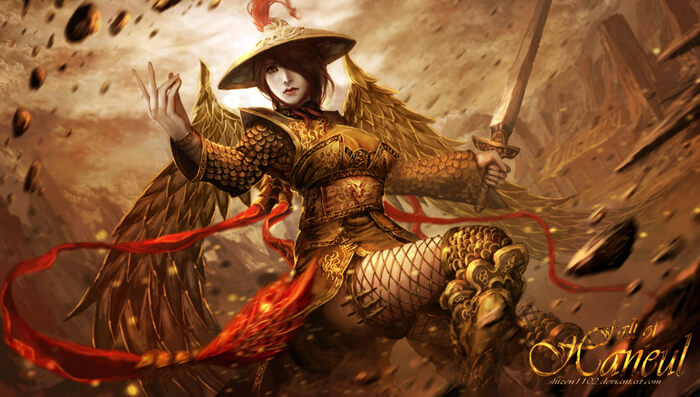 Empress of the Golden Phoenix Order by shizen1102
