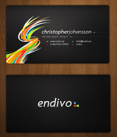 Endivo Business Cards by alivepixel