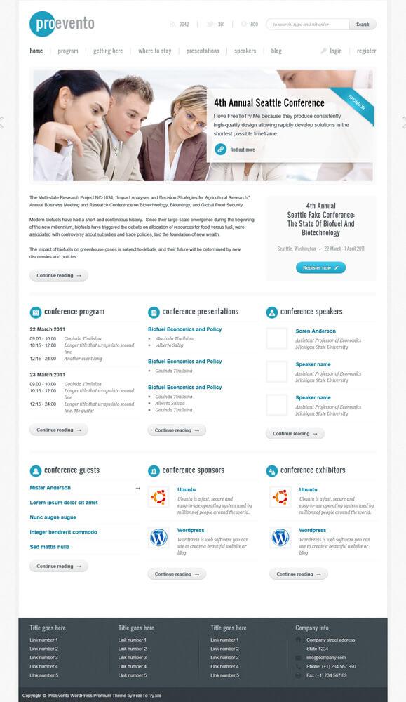 Evento WordPress Theme by PremiumThemes