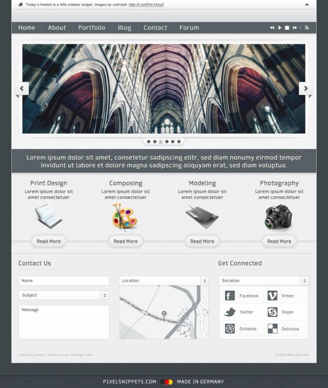 FREEBIE - Website Template by pixelsnippets