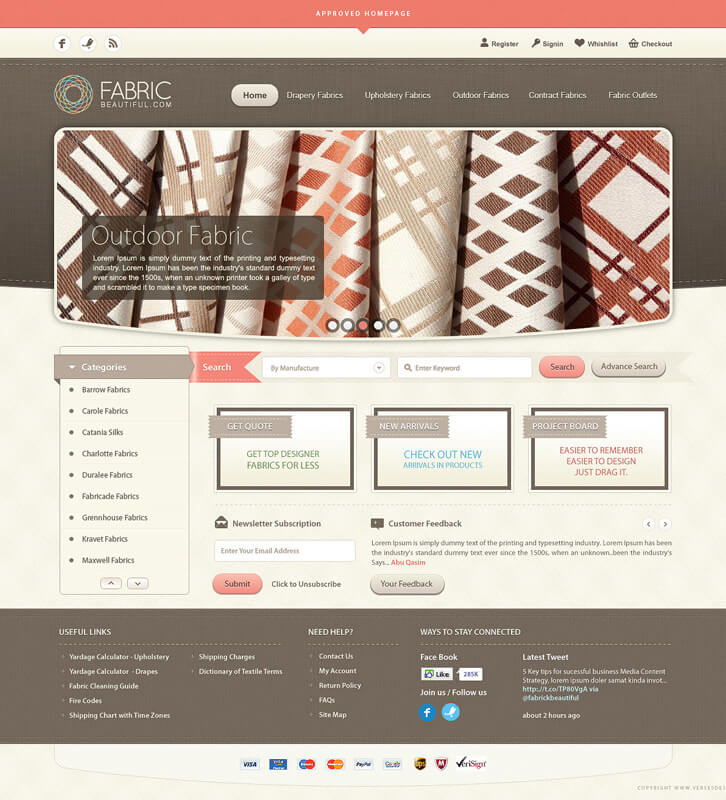 Fabric Beautiful Full Website by versesdesign