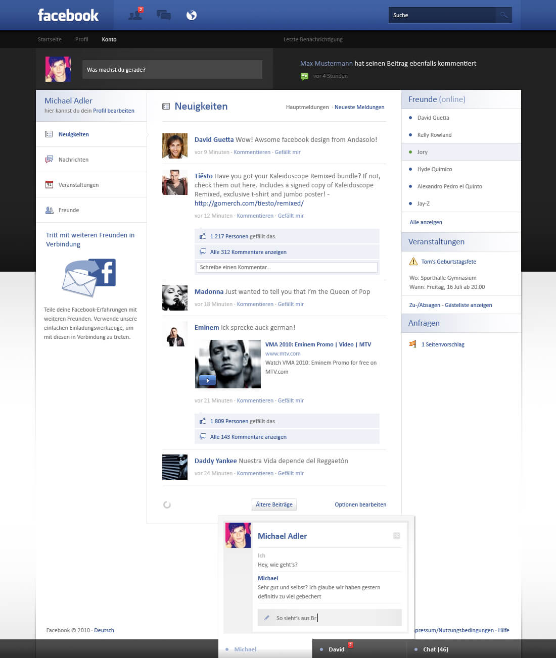 Facebook Re-Design - Sold by AndasoloARTS