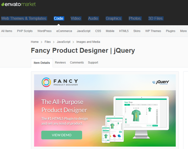 Fancy Product Designer jQuery plugin