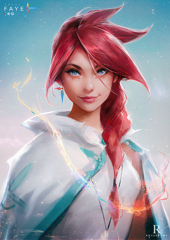 Faye's Portrait : Tutorial! by rossdraws
