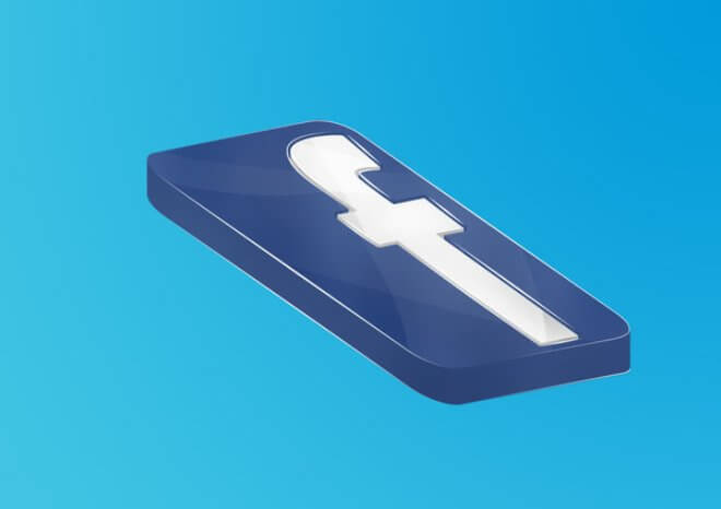 Fb Facebook Logo 3D by OldSkl