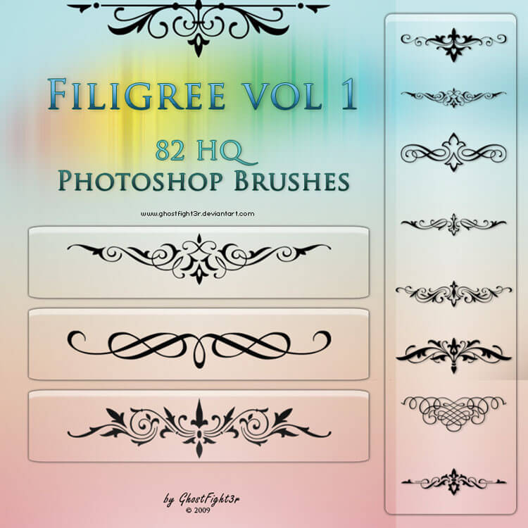 Filigree vol1 - HQ brushes by GhostFight3r