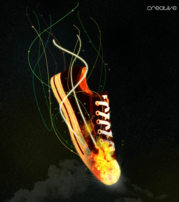 Fire Shoes  They glow by cr34tive