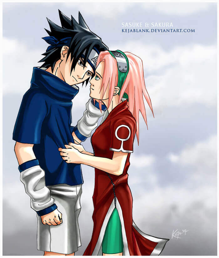First Art work of Keja Blank-Sasuke and Sakura by KejaBlank