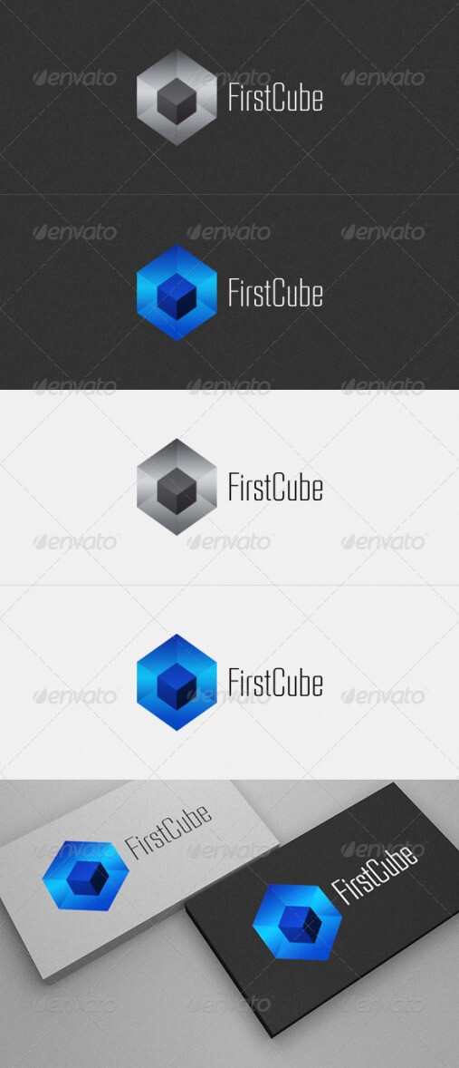 First Cube logo design for sale by artiestear
