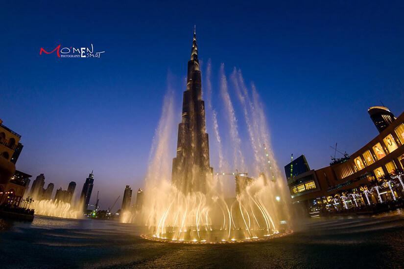 Fountain on Burj-ul-khalifa by Mo'men Esmat