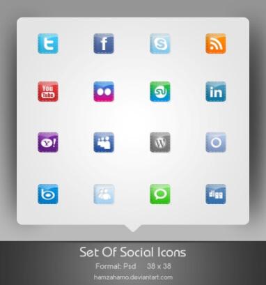 Free Social Icons Set by hamzahamo