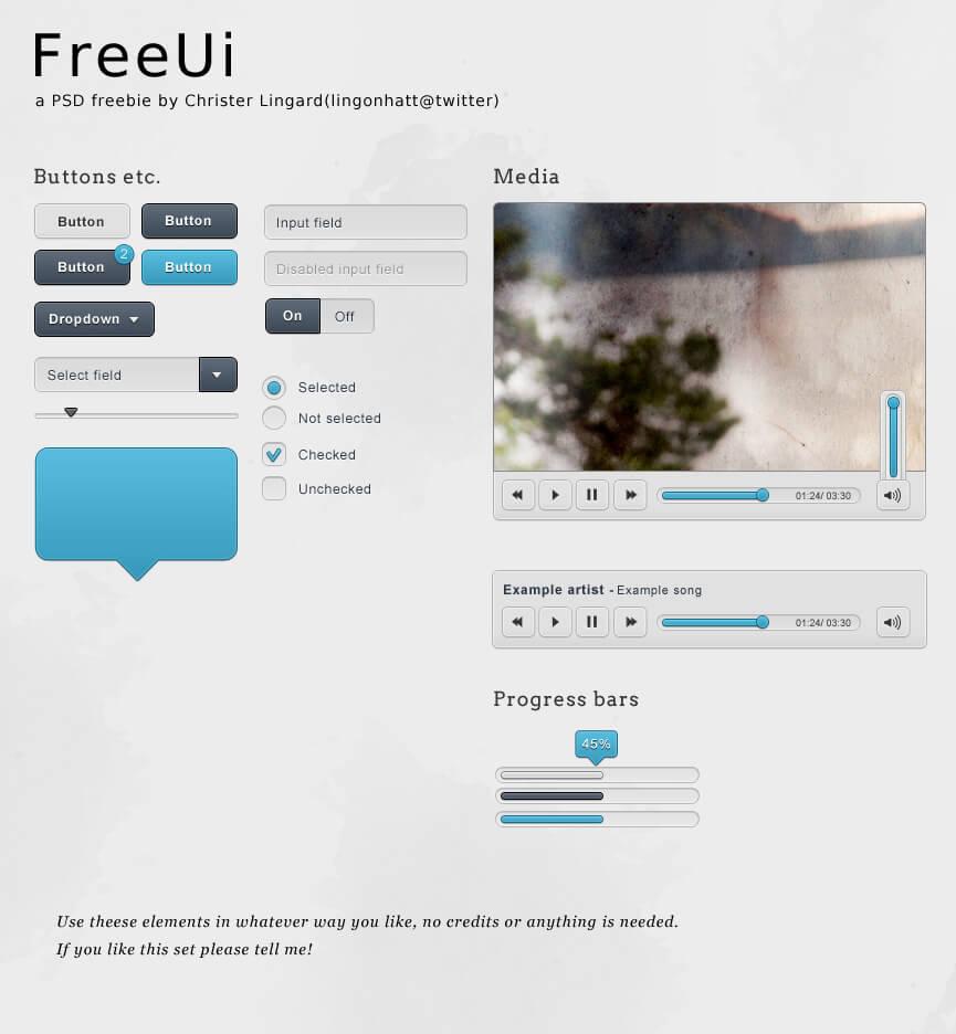 FreeUi - A small web UI set by ~lingonhatt