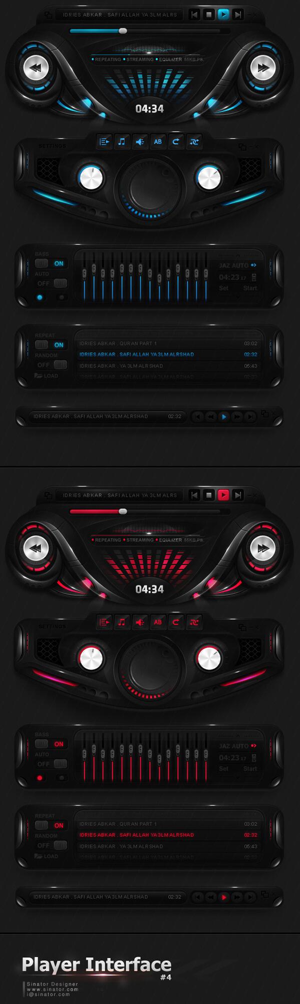 Futuristic Player Interface by sinator-designer