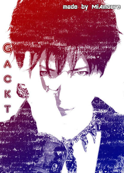 GACKT Typography by ~MiAmoure